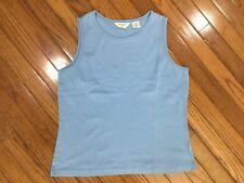 2dea583a3f0bc Brooks Brothers 346 Women s Blue Tank Sleeveless Top Blouse Size L