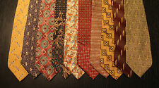 Lot of 10 NEW Bill Blass Neck Ties with Patterns LD012