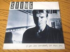 """STING - IF YOU LOVE SOMEBODY SET THEM FREE      7"""" VINYL PS"""