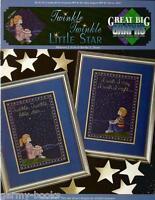 Twinkle Little Star True Colors Kids Great Big Graphs Cross Stitch Pattern NEW