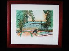 """Jean CARZOU """" vue du lac """"  lithographie originale signée et N° 168/200"""
