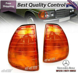 Pairs Indicator Corner Signal Lights Lamp MERCEDES E Class W123 1976-1984 Amber