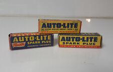 Vintage Auto Lite Sparkplug lot spark plug P4 P6 Rat Rod Man Cave Gas Oil car