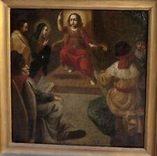 L'ENFANT JÉSUS PARMI LES DOCTEURS...GRANDE & EXCEPTIONNELLE TOILE BIBLIQUE XVIIe