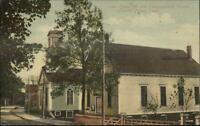 Central Village CT Town Hall & Cong Church c1910 Postcard