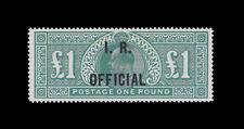 "***REPLICA*** of Great Britain 1902-11 EDVII £1 green "" I.R. Official "" SG O27"