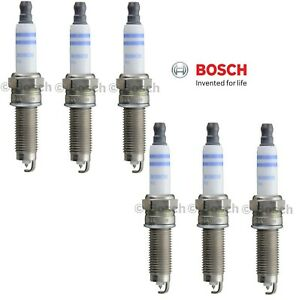 For Audi Q7 Porsche Cayenne 3.6L V6 Set of 6 Double Iridium Spark Plugs Bosch