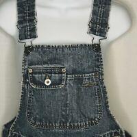 Vintage Overalls Silver Jeans Western Glove Denim Jean Womens Size 5 / 33 Frayed