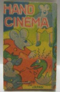 Old Pre War Japan Paper Toy Hand Cinema Flip Book - Rat / Mice Antics