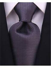 Scott Allan Mens Formal Solid Color Necktie - Black/Gray Mens Tie