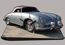 MODEL CARS, PORSCHE 356 -03, car passenger,11,8x 7,8 inches  with Clock