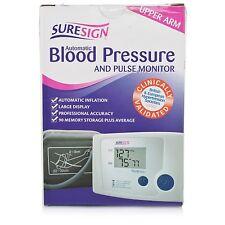 SURESIGN completamente automatico digitale di pressione sanguigna & PULSE MONITOR BRACCIO SUPERIORE NUOVO