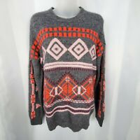 Women's J. Crew Nordic Fairisle Pullover Sweater Size Large