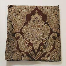 "Croscill Royalton Chocolate Brown Medallion Fabric Shower Curtain 70"" X 72"" EUC"