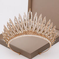 Luxury Bridal Crystal Pageant Prom Queen Big Crown Wedding hairband Headpiece