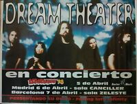 DREAM THEATER CANCILLER MADRID SPANISH BIG PROMO POSTER 90cm X 140cm MUY RARO