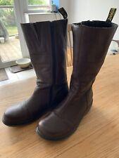 dr martins boots size 8 Brown Calf High