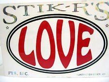 LOVE - New Bumper Sticker by Stik-R's