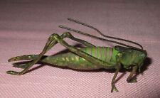 "Antique Austria Vienna Bronze Cold Painted Grasshopper Sculpture Figure Rare 3"""