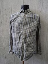 Mens Checkered JCP 80's 2 Ply 100% Cotton Dress Shirt Size Small Long Sleeved