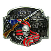 Alloy Red Skull Flag Belt Buckle Skeleton Cowboy Cowgirl Classic Halloween