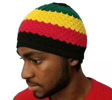 Rasta Skully Beanies Hat Unisex Warm Soft Skull Knitting Cap Jamaica Beanie Kufi