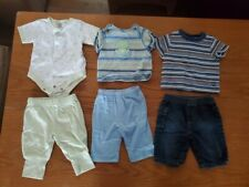 3 Baby Boy Outfits/Sets Pants and Shirts 0-3 months Euc
