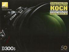 Prospekt Nikon D300S 7 2009 Kameraprospekt Katalog Kamera Spiegelreflexkamera