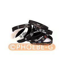 Photographer silicone bracelet Wristbands SET 8pcs/Stop Lens Zoom Creep