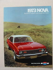 1973 Chevrolet Nova Brochure -Near Mint