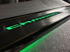 GM Licensed Lighted Door Sill Camaro 5th Illuminated SS ZL1 RS Sills Green Light