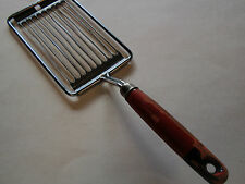 Vintage Red Black Wood Handled Tomato Slicer Made in Holland Tomado Retro Cutter