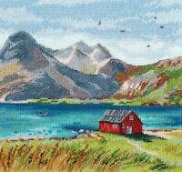 New Counted Cross Stitch Embroidery Kit Lofoten Islands by Oven