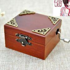Vintage Square Hand Crank Music Box : ELFEN LIED -LILIUM