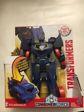 Transformers Robots Soundwave 3 Step Hyper Vault in Disguise Combiner Force Toy
