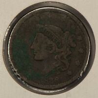 1838 1c Coronet Head Large Cent SKU-Y2596