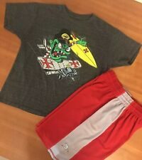 ~Lot of 2~ Boy's Billabong Shorts & Shirt: Black, Red (M-L)