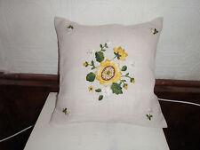 handgestickte Kissenhülle, Sonnenblume, Verveco