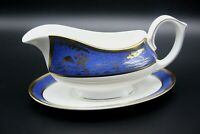 CARTIER 'La Maison De L'Empereur' 24K Gold Bone China Gravy Boat + Underplate