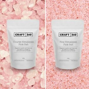 HIMALAYAN PINK SALT - FINE / COARSE - EDIBLE PURE ROCK Crystal Soap Bath Scrub