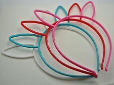 10 Mixed Color Plastic Rabbit Bunny Ear Headband Hair band With Teeth Kids Girls