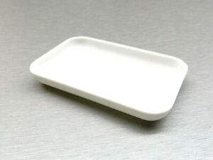 """White Plastic Tray For Beads Color Gemstones Small Open Tray 4""""x2-1/2"""" Rectangle"""