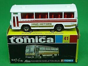 Tomica No.41 Hino Rainbow Skeleton Bus (HINO MOTORS TAMPOS) (MADE IN JAPAN)