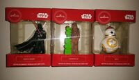 Star Wars 2019 Hallmark Redbox Ornaments, Lot Of 3, Darth Vader, Chewbacca, BB-8