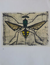 Bernard BUFFET (1928-99) Lithographie 1967 Nle Ecole de Paris La guêpe The wasp