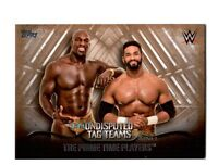 WWE Prime Time Players 2016 Topps Undisputed Tag Teams Parallel Card SN 27 of 99