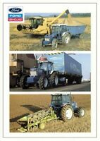 Ford New Holland Series 30 8210 7810 7610 At Work Poster Brochure Advert A3