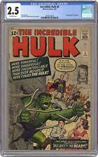 Incredible Hulk #5 CGC 2.5 1963 2070472018