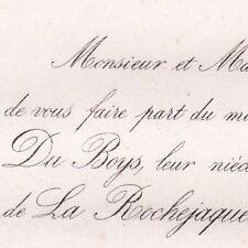 Aglaé Du Boys 1866 Julien Du Vergier La Rochejaquelein