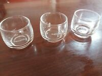CATHAY PACIFIC AIRWAYS Wine Cocktail Glass x 3 Airline